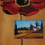 Poppy Postcard  - Acrylic on Canvas  10x20