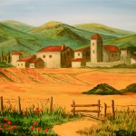 Tuscan Farm - Acrylic on Canvas 16x20